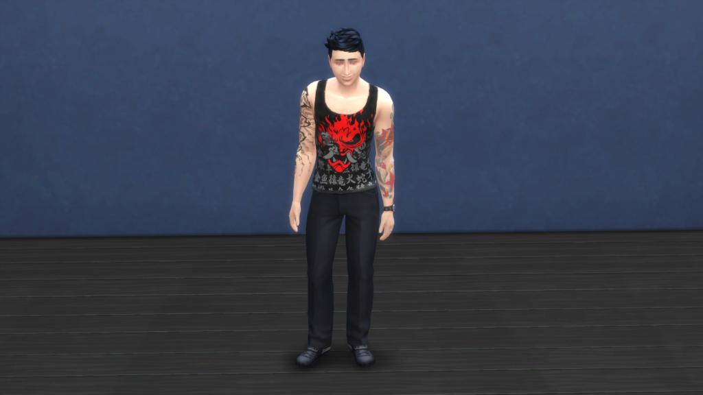 3 майки в стиле CyberPunk для The Sims 4