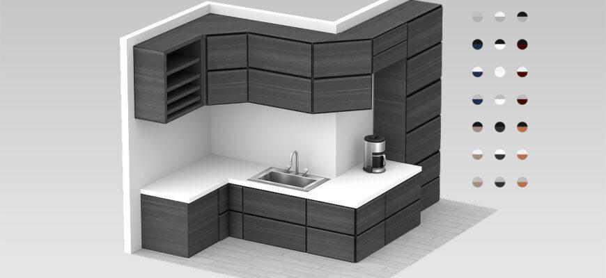 """Кухонный гарнитур """"Nybro Kitchen"""" для The Sims 4"""