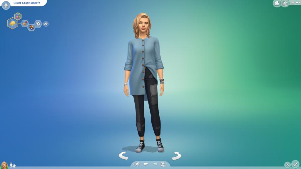 Хлоя Грейс Моретц v.3 для The Sims 4