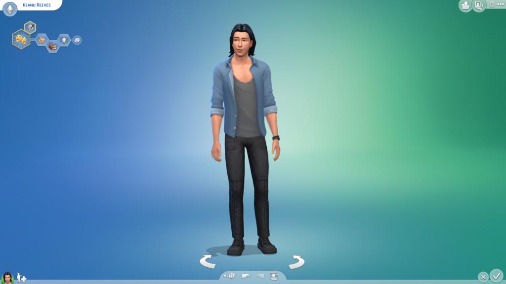 Киану Ривз для The Sims 4
