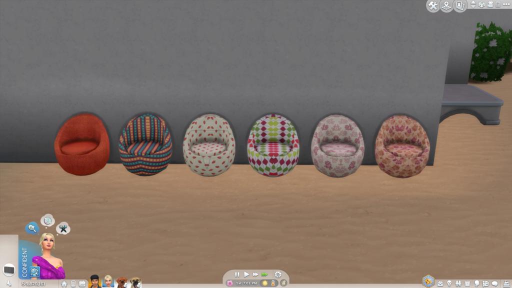 Кресла Eggy для The Sims 4