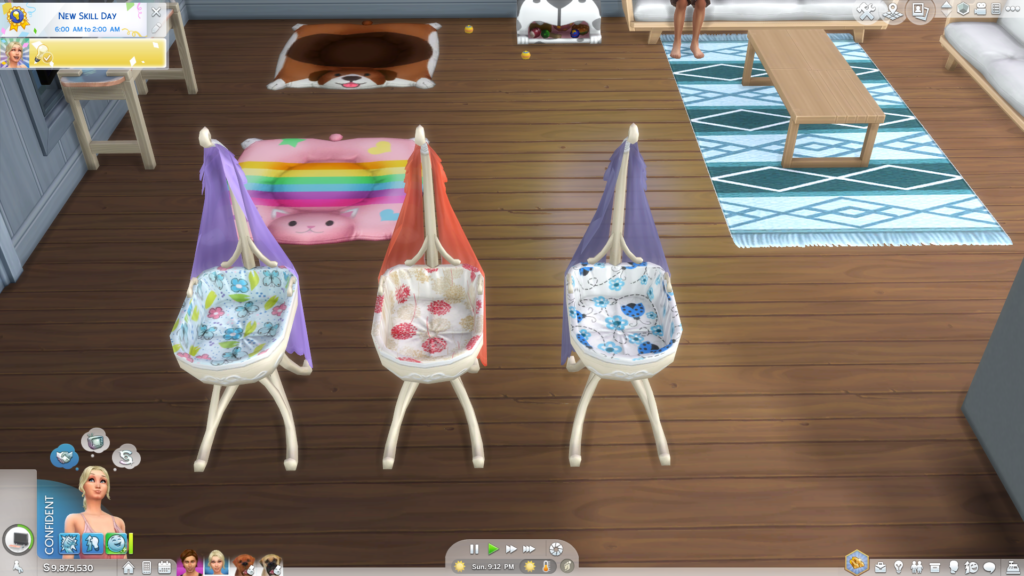 Волшебная кроватка для младенцев The Sims 4