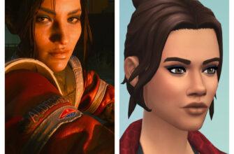 Панам Палмер из CyberPunk 2077 для The Sims 4