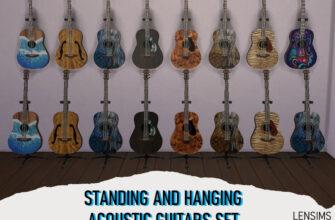 Набор акустических гитар для The Sims 4