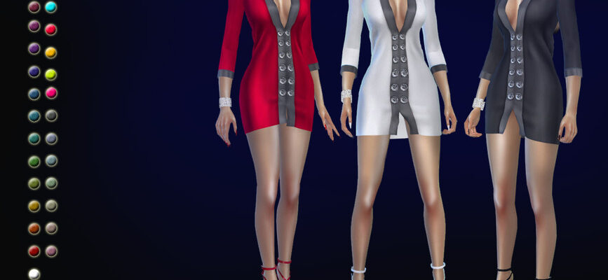Платье Arctuma для The Sims 4
