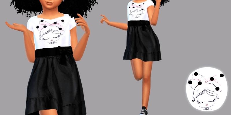 Детское платье Alanna для The SIms 4