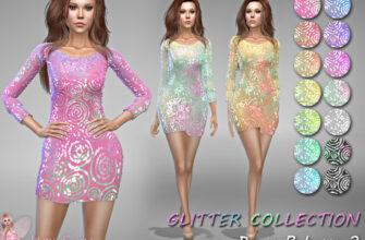 Платье Rebecca 2 для The Sims 4