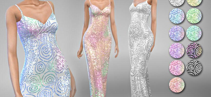 Платье Rebecca 5 для The Sims 4