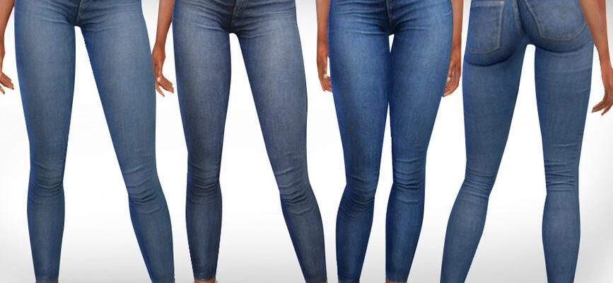 Джинсы Skinny Fit для The Sims 4
