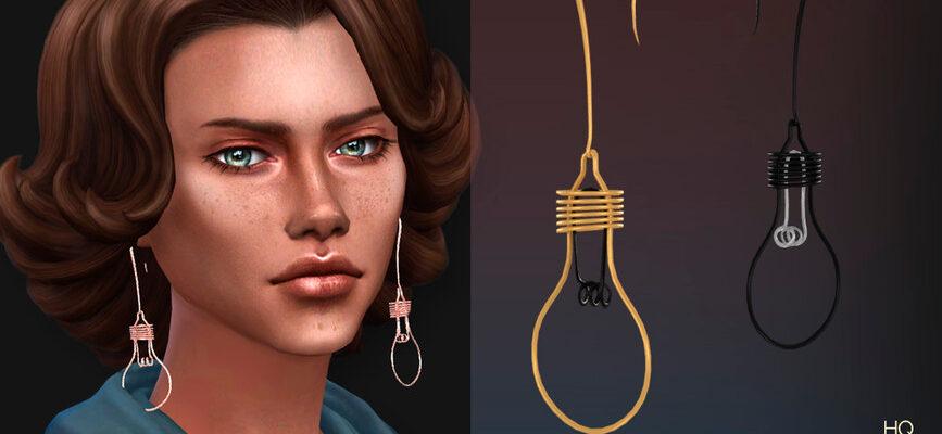 "Серьги ""I Have an Idea"" для The Sims 4"