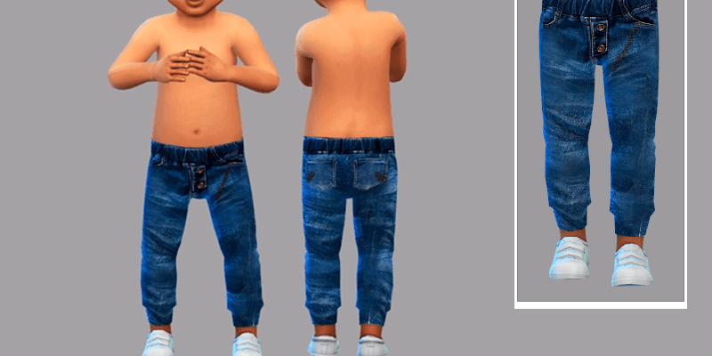 Джинсы Antony для The Sims 4
