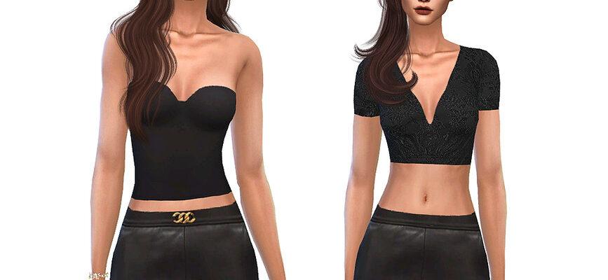Роскошная мини-юбка для The Sims 4