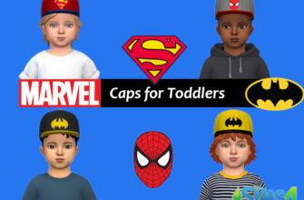 Кепки Marvel для малышей The Sims 4