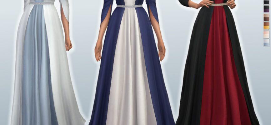 Вечернее платье Mathilde для The SIms 4