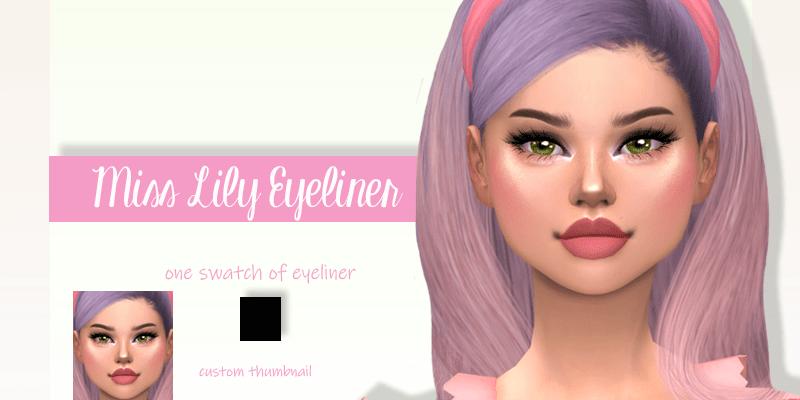 Подводка для глаз Miss Lily для The Sims 4