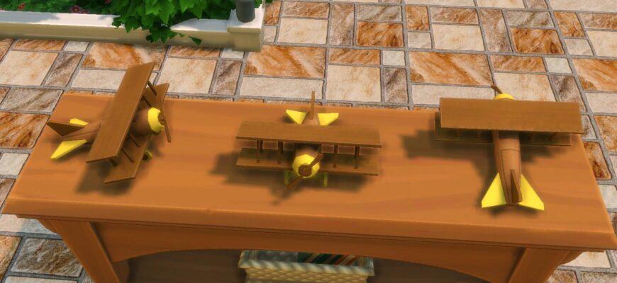 Самолет для трюков The Sims 4