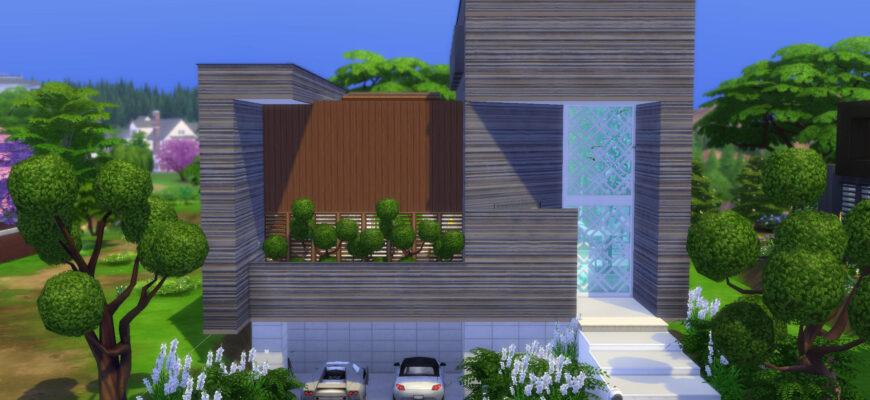 Ультрасовременный дом для The Sims 4