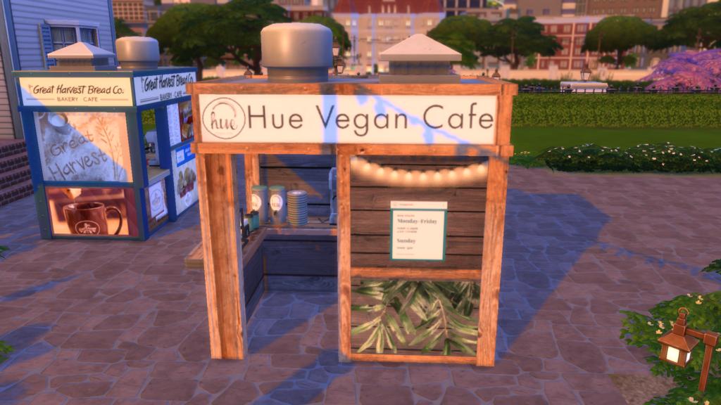 """Стенд """"Веганское кафе"""" для The Sims 4"""