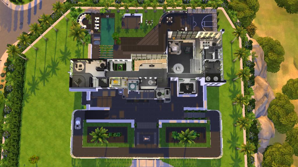 Современный особняк для The Sims 4