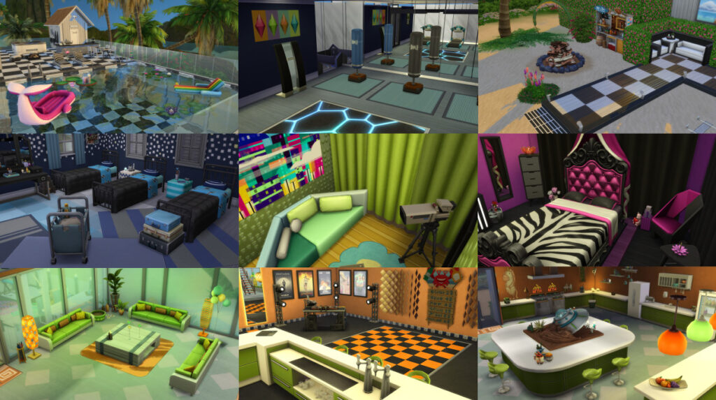 Дом реалити-шоу для The Sims 4