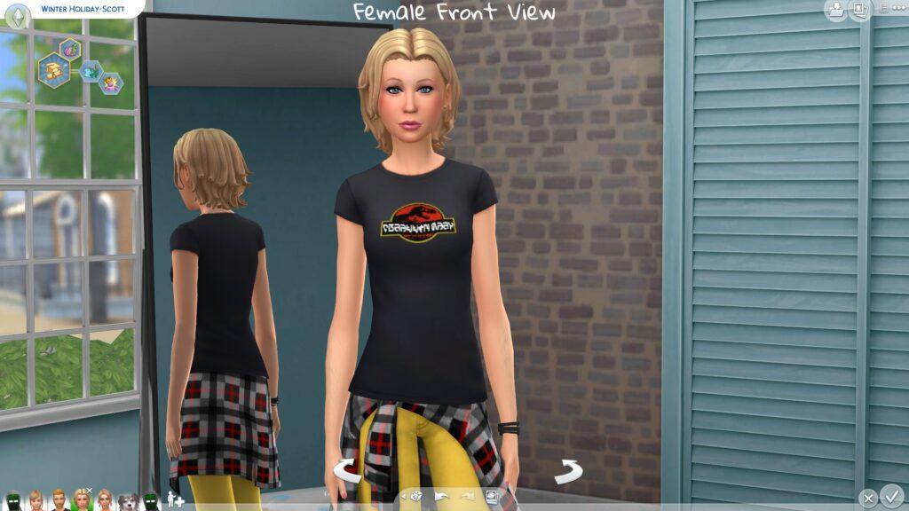 Футболки Jurassic Park для The Sims 4