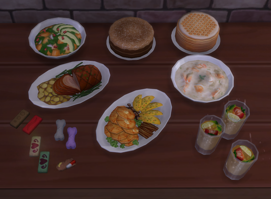 Высококачественная еда для The Sims 4