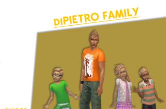 Семья ДиПьетро для The Sims 4