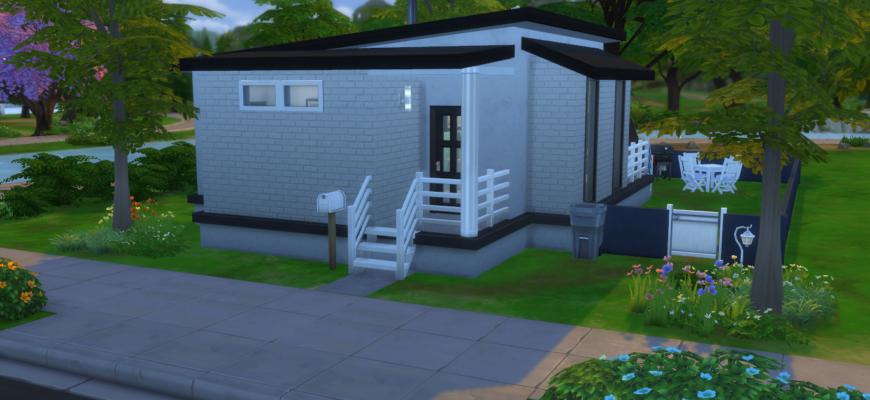 Маленький современный домик для The Sims 4