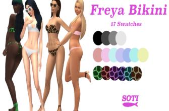 Бикини Freya для The Sims 4