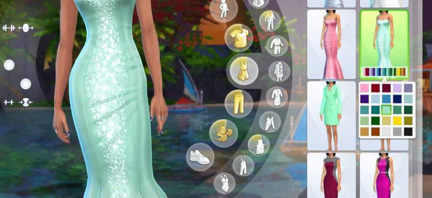 Платье Sparkly Maxis Concerto для The Sims 4