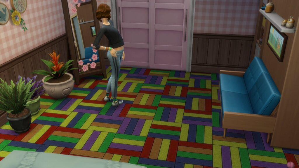 Ковер с узором плит для The Sims 4