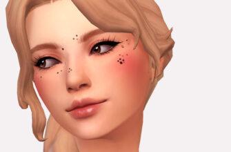 Родинки в виде лапок для The Sims 4