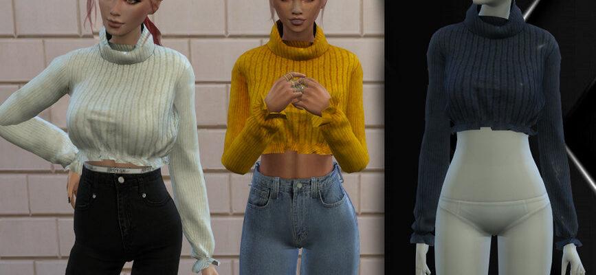 Свитер с оборками для The Sims 4