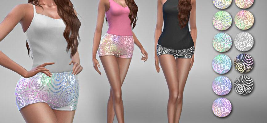 Шорты Rebecca 3 для The Sims 4