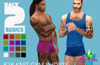 Вязаные спортивные шорты для The SIms 4