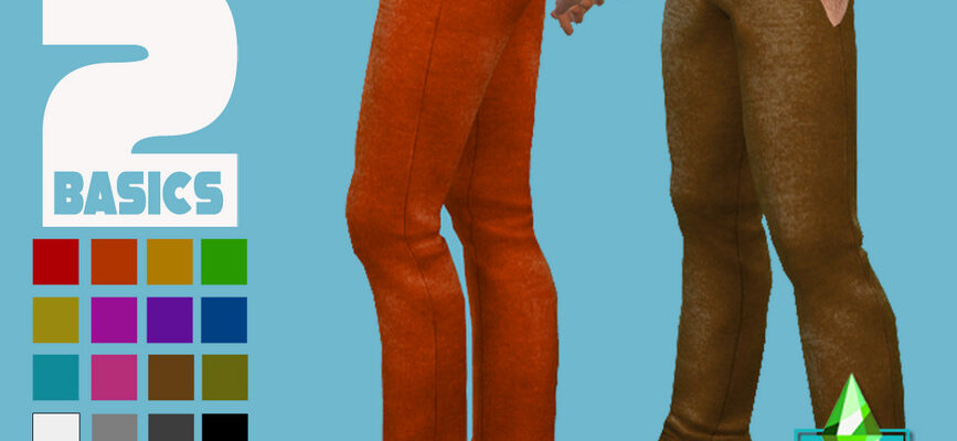 Вязаные брюки для The Sims 4