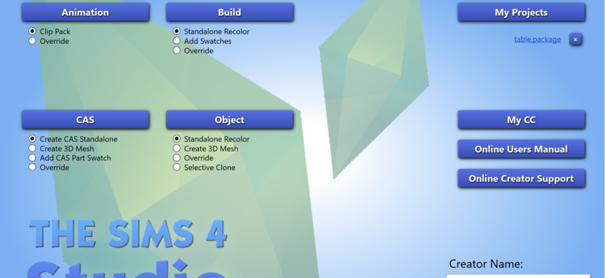 Sims 4 Studio для Windows 3.1.4.4