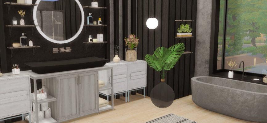 Ванная комната - Trish для The Sims 4