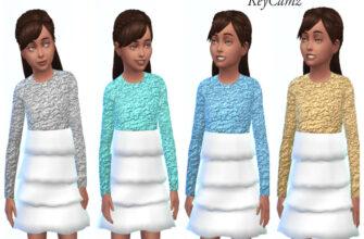 Праздничное платье для The Sims 4