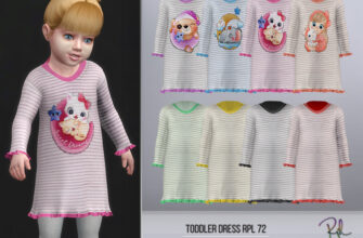 Платье для малышей RPL72 The Sims 4