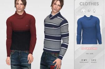 Зимний мужской свитер для The Sims 4