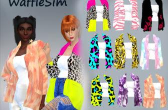 Яркий пиджак WaffleSim для The Sims 4