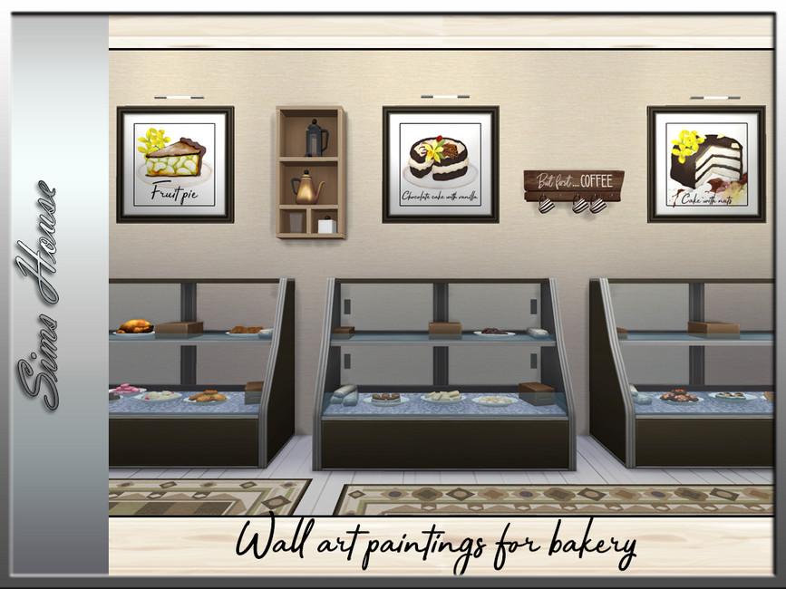 Настенные картины для пекарни The Sims 4