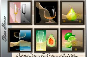 Настенные картины для ресторана и кухни в The Sims 4