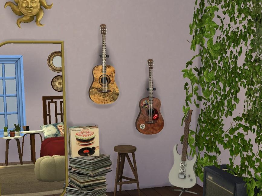 Настенные гитар для The Sims 4