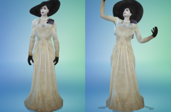 Одежда Леди Димитреску для Симс 4